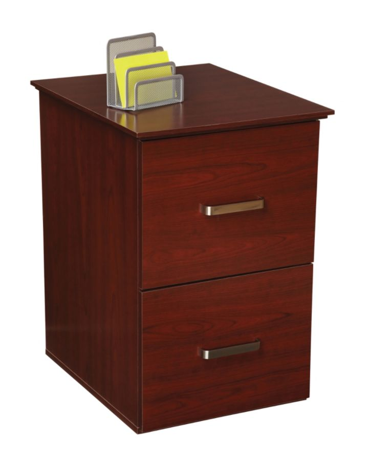 OfficeMax Mahogany Finish 2 Drawer Vertical File Cabinet