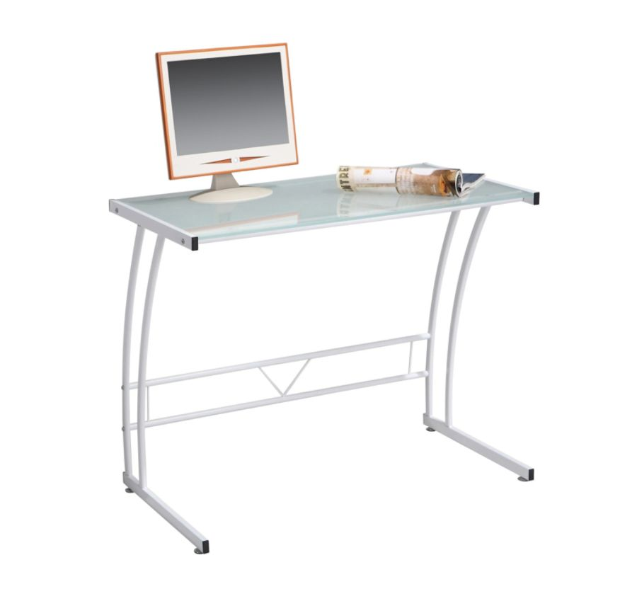 Lumisource Sigma Glass Workstation White by Office Depot