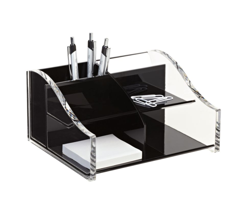Realspace Acrylic Desk Organizer 4 516 x 7 18 x 8 18