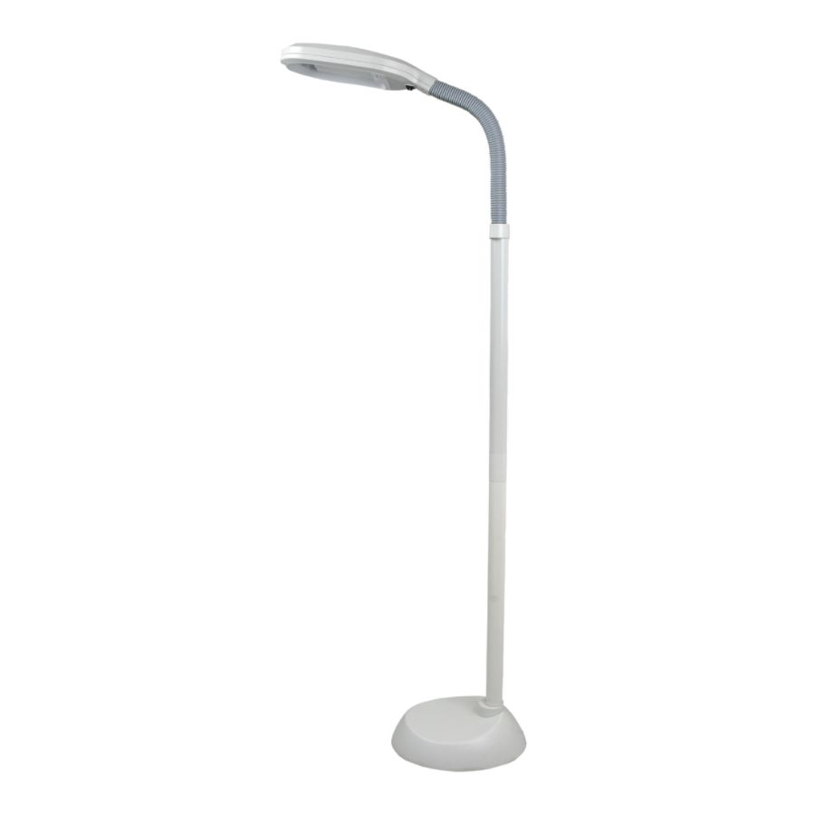 Lavish Home Sunlight Floor Lamp 64 H White ShadeBase by