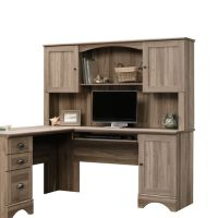 Sauder Harbor View Desk Hutch Salt Oak by Office Depot