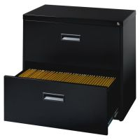 Lorell Steel Letter Size Lateral File Cabinet 2 Drawer 27 ...