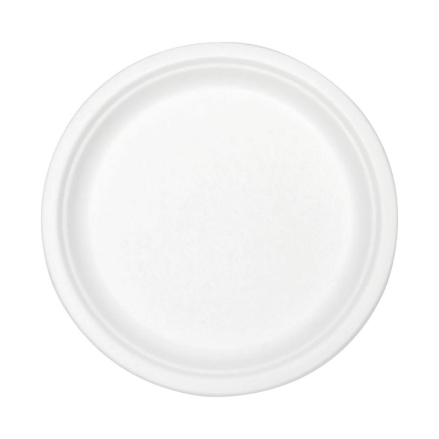 Stalk Market Compostable Tableware 9 Plate White 300Carton