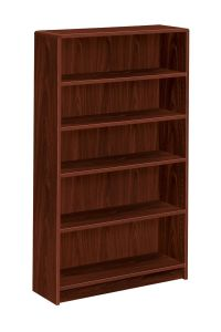 HON Radius Edge Bookcase 5 Shelves Mahogany by Office ...
