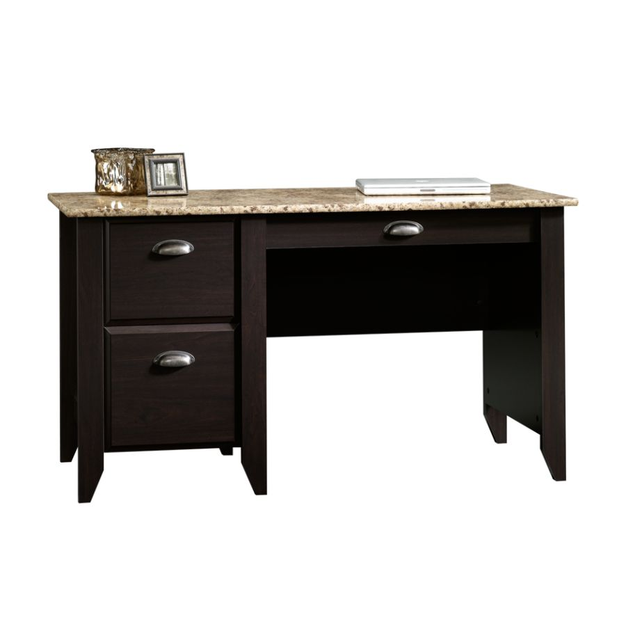 Sauder Samber Desk GraniteJamocha Wood by Office Depot