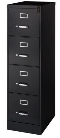 Realspace 22 D 4 Drawer Vertical File Cabinet 52 H x 15 W