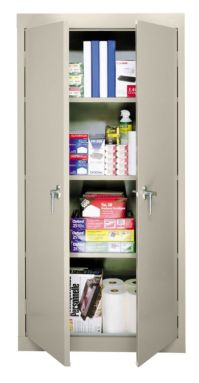 Sandusky 30 Steel Storage Cabinet With 3 Fixed Shelves ...