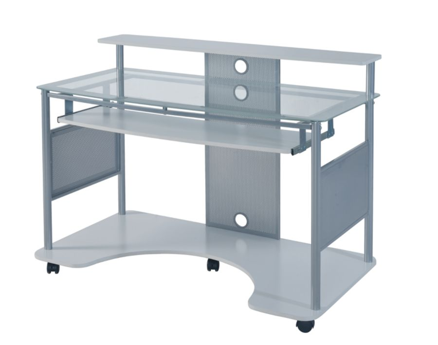 Z Line Designs Mobile Workstation Desk White by Office