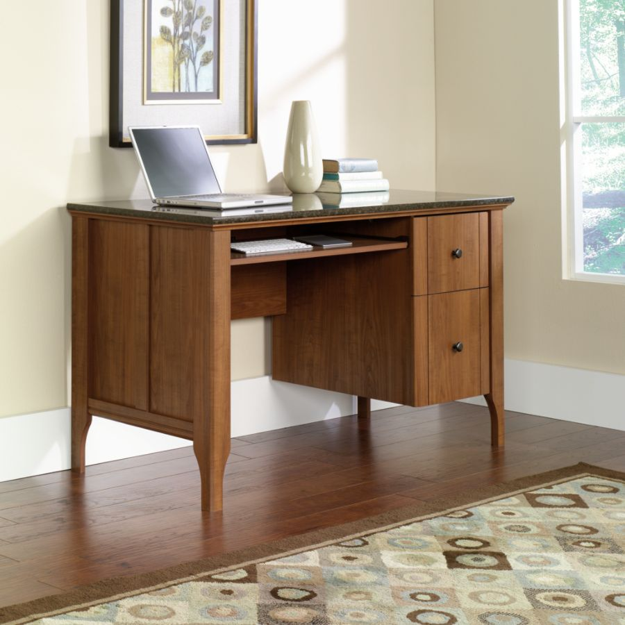 Sauder Appleton Faux Marble Top Computer Desk Sand Pear by