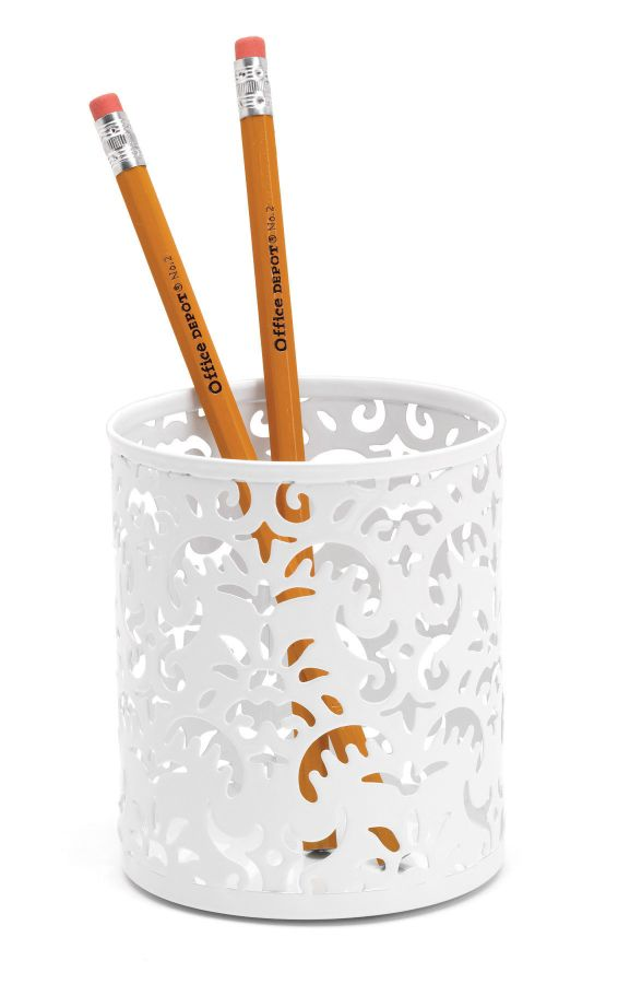 Realspace Brocade Pencil Cup White by Office Depot  OfficeMax