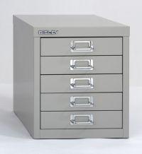 Bisley Steel Desktop Storage Cabinet 5 Drawers 13 H x 11 W ...