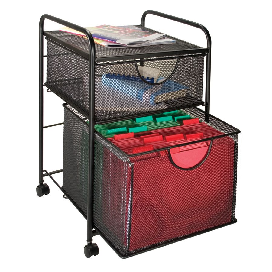 Designs mesh hanging file and storage cart by office depot amp officemax