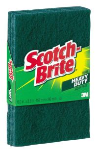 Scotch Brite Scour Pads Green Pack Of 3 by Office Depot