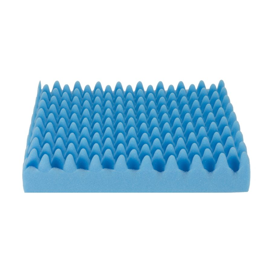 chair pad foam leg pads for hardwood floors dmi convoluted seat cushion 16 h x 18 w 4 d blue by office depot & officemax