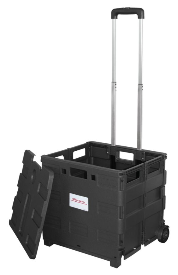 Office Depot Brand Mobile Folding Cart With Lid 16 H X 18