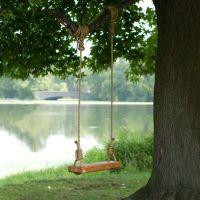 Reclaimed Floor Joist Tree Swing | Terrain