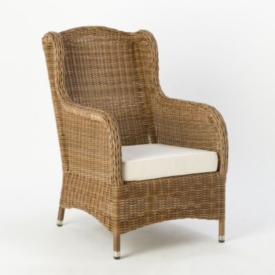 rattan wingback chairs large round living room all weather wicker chair terrain