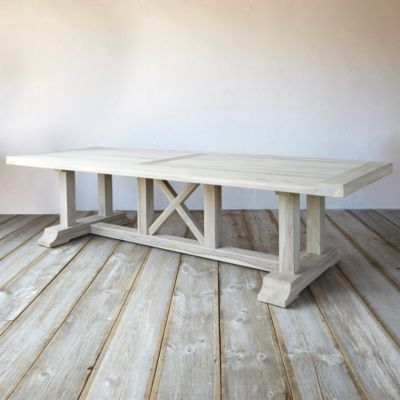 Protected Teak Country Dining Table Terrain