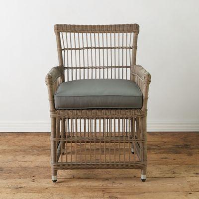 wicker dining chair rectangular leg glides trellis weave all weather terrain
