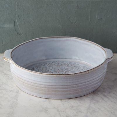 Embossed Terracotta Baking Dish Large Terrain