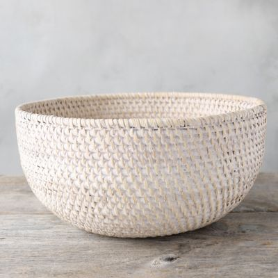 Wicker Bowl Chair Woven Rattan Fruit Bowl Terrain
