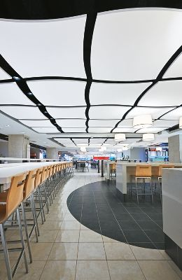 Vancouver Mall Food Court : vancouver, court, Harbour, Centre, Court, Armstrong, Ceiling, Solutions, Commercial