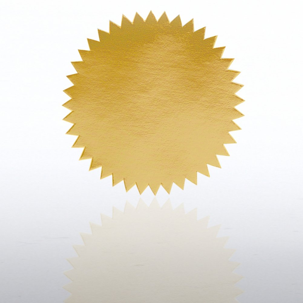 Blank Certificate Seal - Gold at Baudville.com