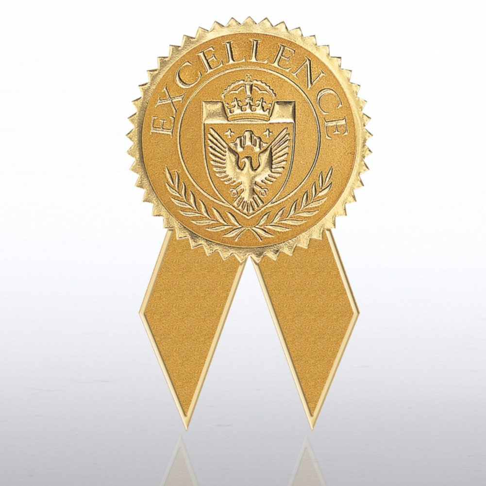 Certificate Seal with Ribbon Excellence Gold at