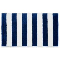 Buy Beach Stripe Bath Rug in Blue/White from Bed Bath & Beyond