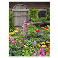 Rustic Garden Outdoor All-Weather Canvas Wall Art - Bed ...