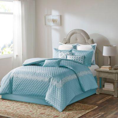 Buy Bombay Emerson California King Comforter Set in Blue