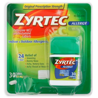 Zyrtec 30-Count 10 mg Tablets - Bed Bath & Beyond