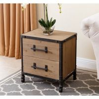 Abbyson Living Northwood Nightstand in Natural - Bed Bath ...