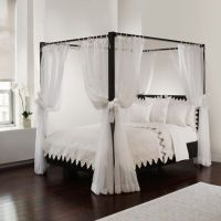 Sheer Bed Canopy Curtains in White - Bed Bath & Beyond