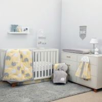 NoJo Dreamer Elephant 8-Piece Crib Bedding Set in Yellow ...