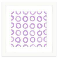 Geometric Watercolor Wall Art in Lavender - Bed Bath & Beyond