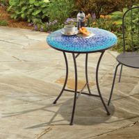 Buy Mosaic Bistro Table in Blue from Bed Bath & Beyond