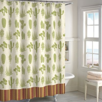 Cactus Shower Curtain  Bed Bath  Beyond