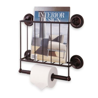 Oil Rubbed Wall Mount Magazine Rack in Bronze  Bed Bath