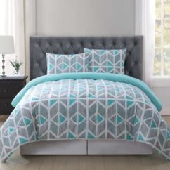 Brand New Kitchen Cost Moen Faucet Installation Truly Soft Malene Comforter Mini Set In Grey/aqua - Bed ...