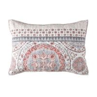 Toren Cotton Pillow Sham in Coral - Bed Bath & Beyond