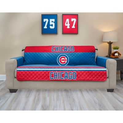 sofa support bed bath and beyond over artwork mlb chicago cubs cover - &