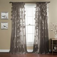 Lush Dcor Riley 84-Inch Rod Pocket Window Curtain Panel ...