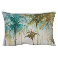 Watercolor Tropical Palms Oblong Indoor/Outdoor Throw ...