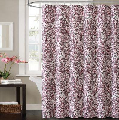 Victoria Elanza Shower Curtain in Plum  Bed Bath  Beyond