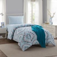 Montoya 16-Piece Twin/Twin XL Comforter Set in Teal - Bed ...