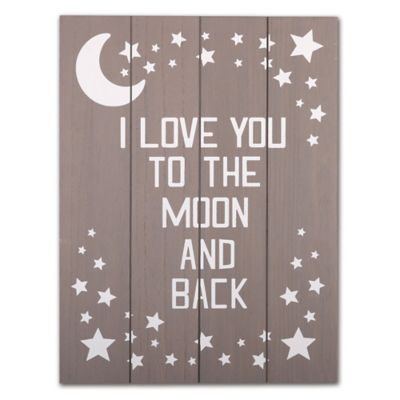 The Peanut Shell I Love You To The Moon And Back Wall
