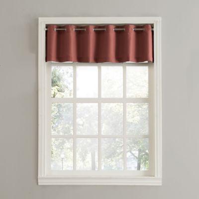 no 918 montego casual textured grommet kitchen window curtain valance