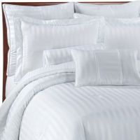 Wamsutta Damask Stripe Comforter Set in White ...