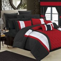 Buy Chic Home Melanie 24-Piece Queen Comforter Set in Red ...